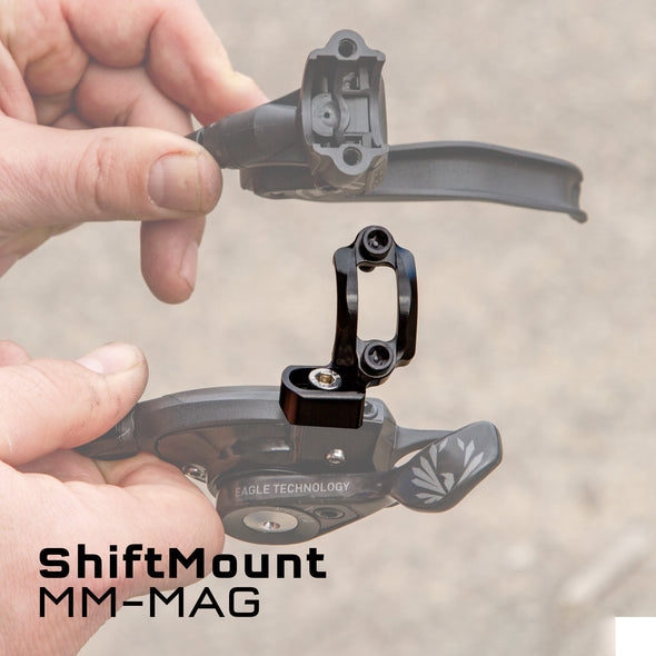 Wolf Tooth ShiftMount MM-MAG is for a SRAM MatchMaker shifter mounting to a Magura brake