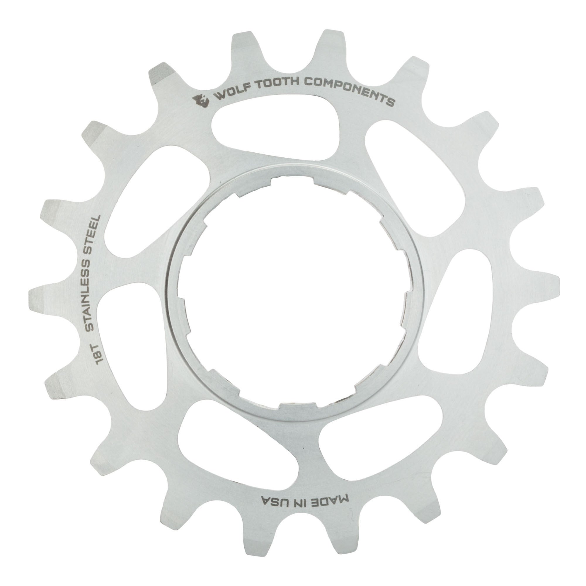 Wolf Tooth Components Single Speed Aluminum Cog 17T Compatible with 3//32