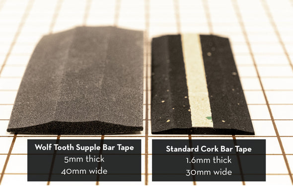 Wolf Tooth Supple Bar Tape for drop bars thickness