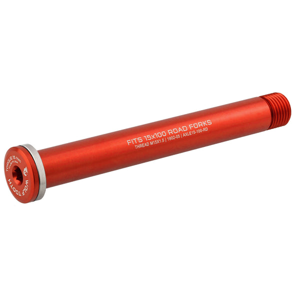 Wolf Tooth Front Road axle 1.5x100mm color red