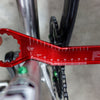 Wolf Tooth bottom bracket wrench chain line tool measuring from downtube