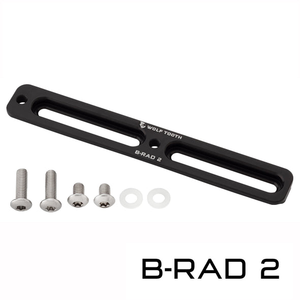 Wolf Tooth B-Rad 2 with 2 long mounting screws, 2 short mounting screws, and 2 washers