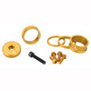 Wolf tooth bling kit 15,10,5,3 spacers-stem cap-water bottle bolts gold