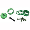 Wolf tooth bling kit 15,10,5,3 spacers-stem cap-water bottle bolts green