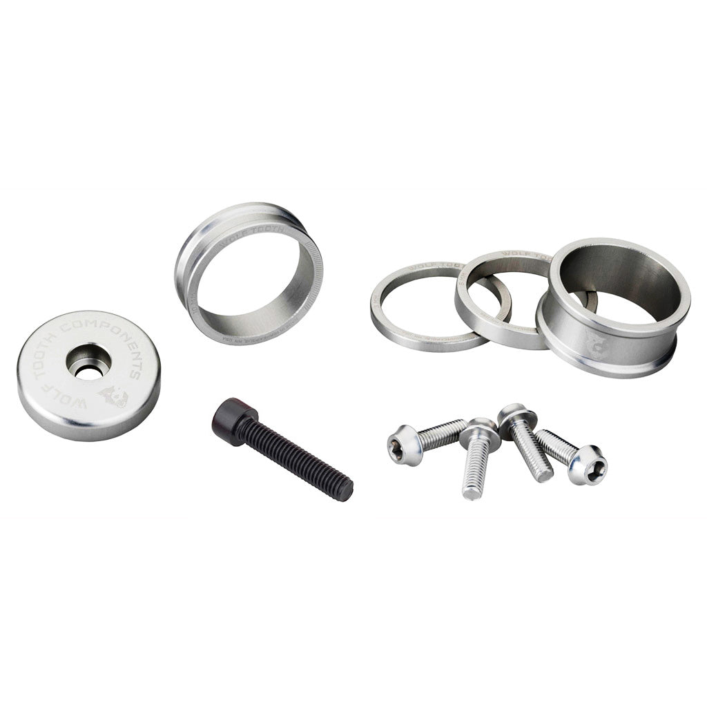 5,10 Gold 15mm Wolf Tooth Components BlingKit: Headset Spacer Kit 3