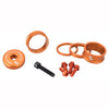 Wolf tooth bling kit 15,10,5,3 spacers-stem cap-water bottle bolts orange