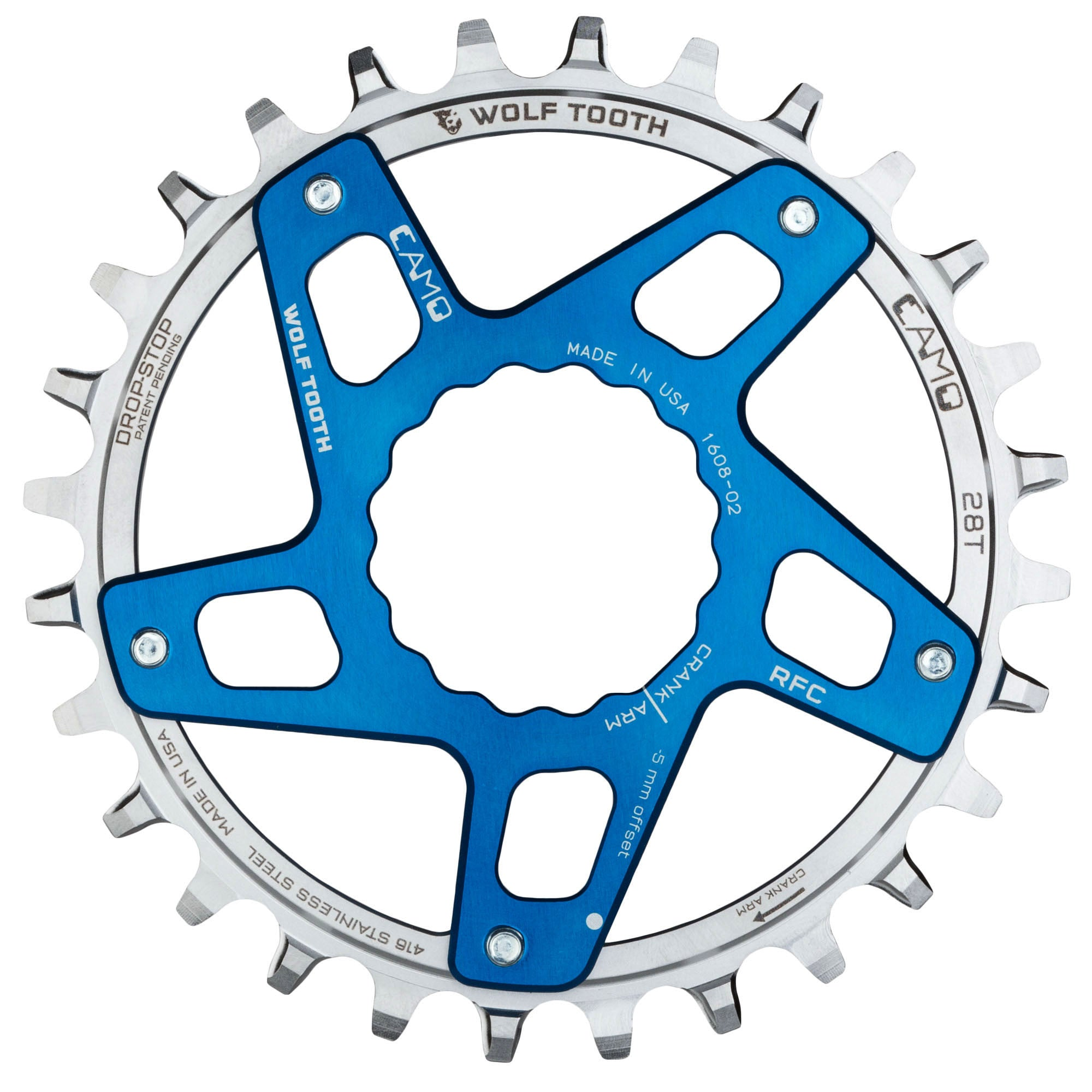 Camo Stainless Steel Round Chainring Wolf Tooth Components