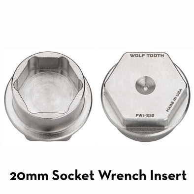Wolf Tooth 20mm Socket Wrench Insert used specifically for Otso Voytek tuning chip nut