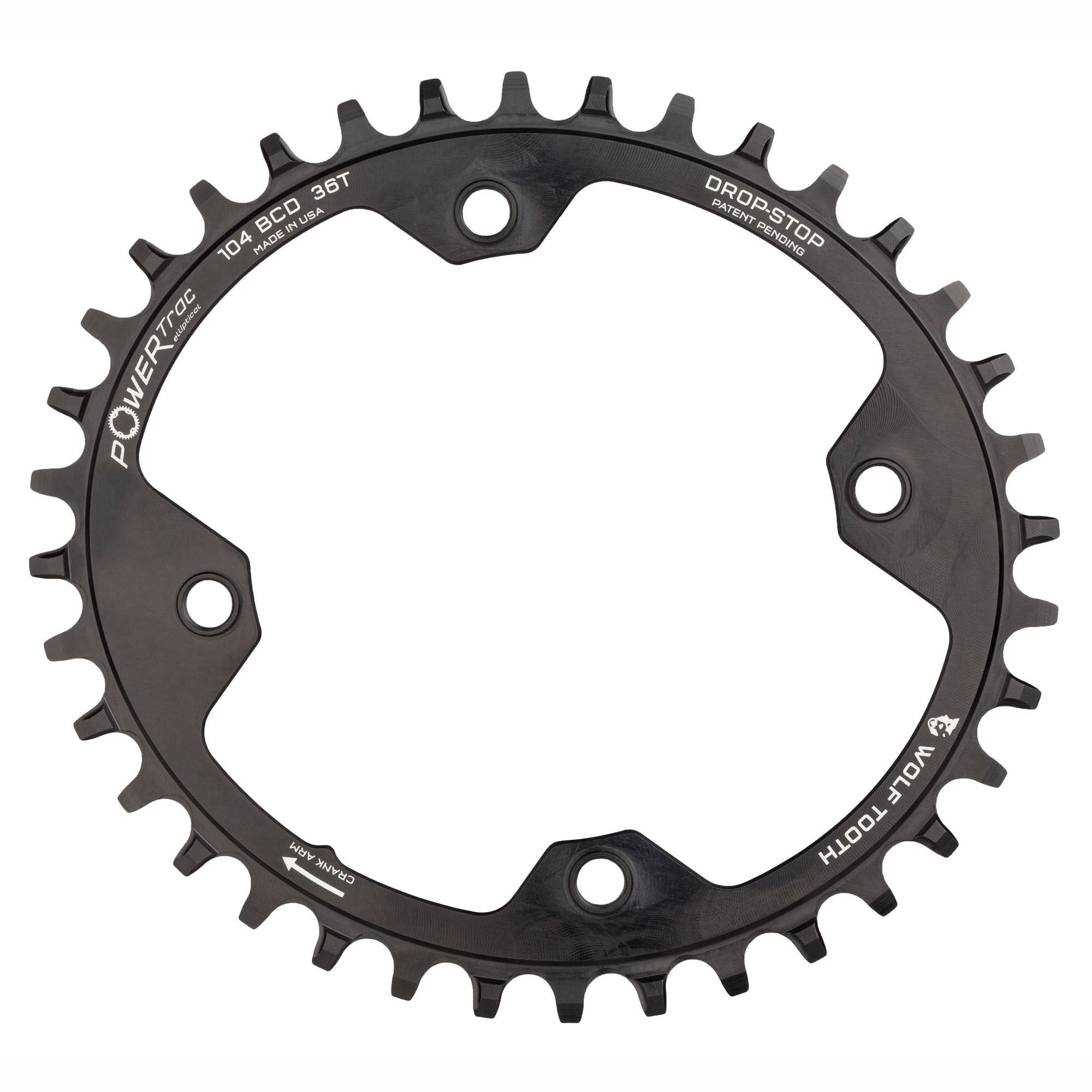 Wolf Tooth Components 1x 104 BCD Elliptical Drop Stop MTB Chainring
