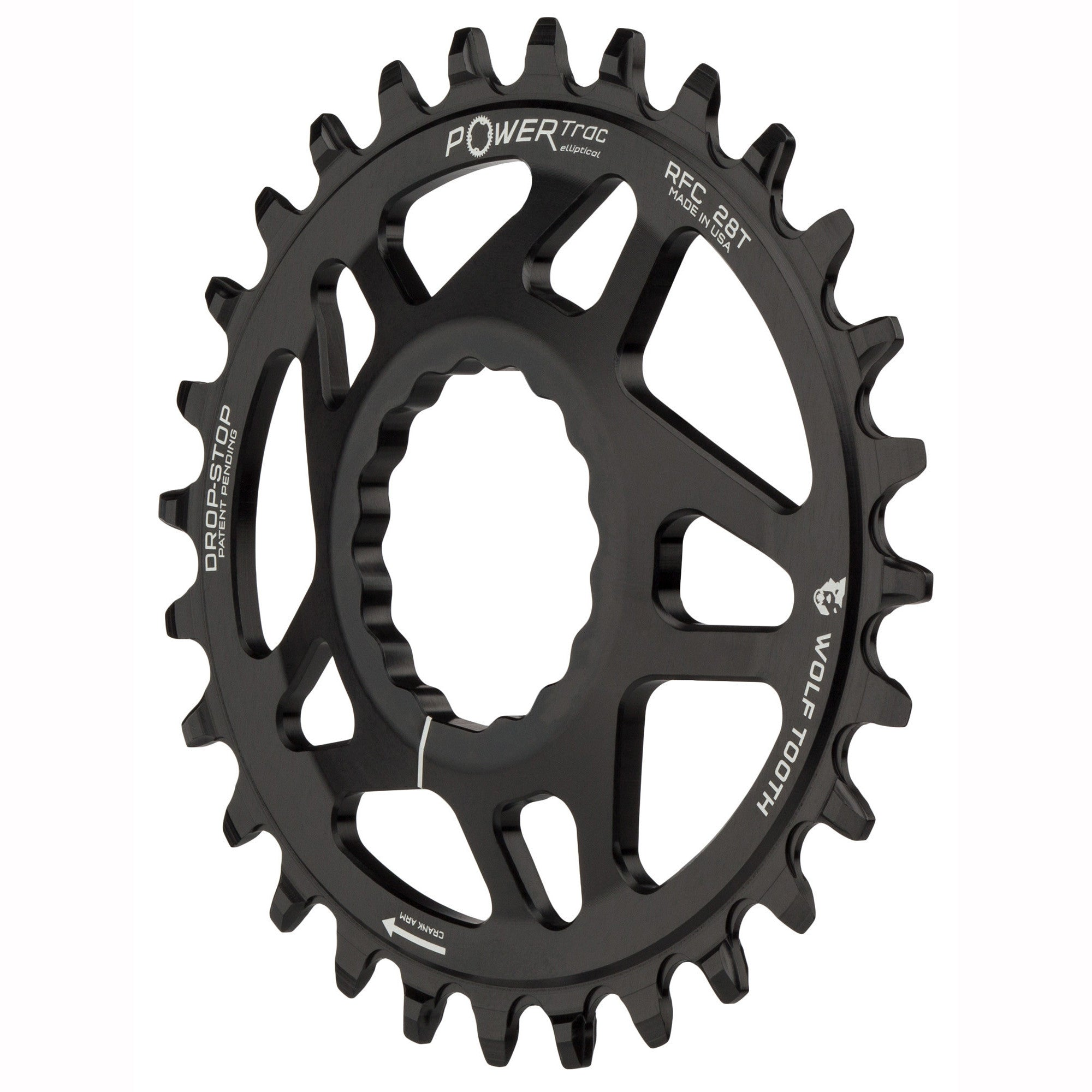 Wolf Tooth Components Direct Mount Drop Stop 28T Chainring-Black-New