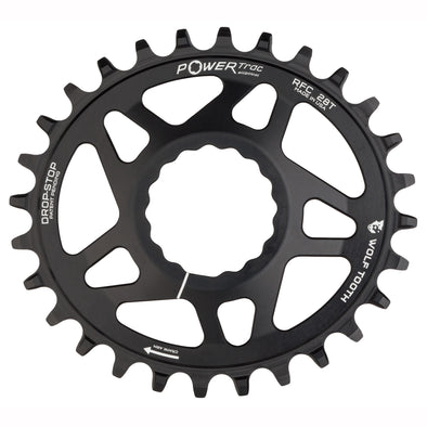 32T x 96 Shimano Asym M9000 Wolf Tooth Components PowerTrac Drop-Stop Chainring