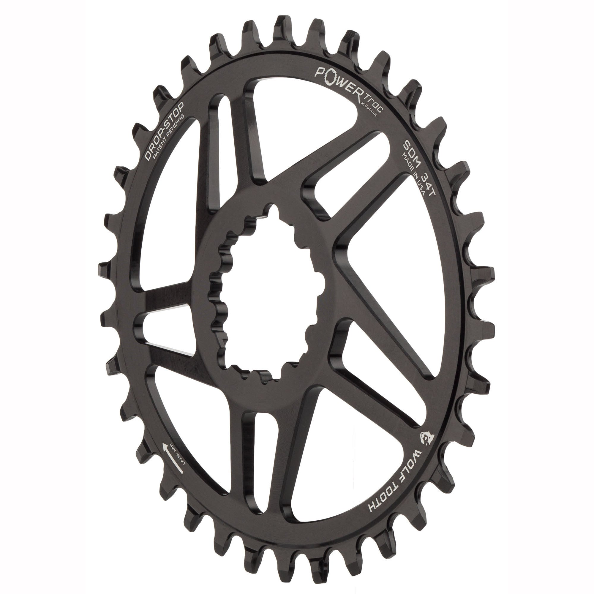 36T SRAM Direct Wolf Tooth Components PowerTrac Drop-Stop Chainring