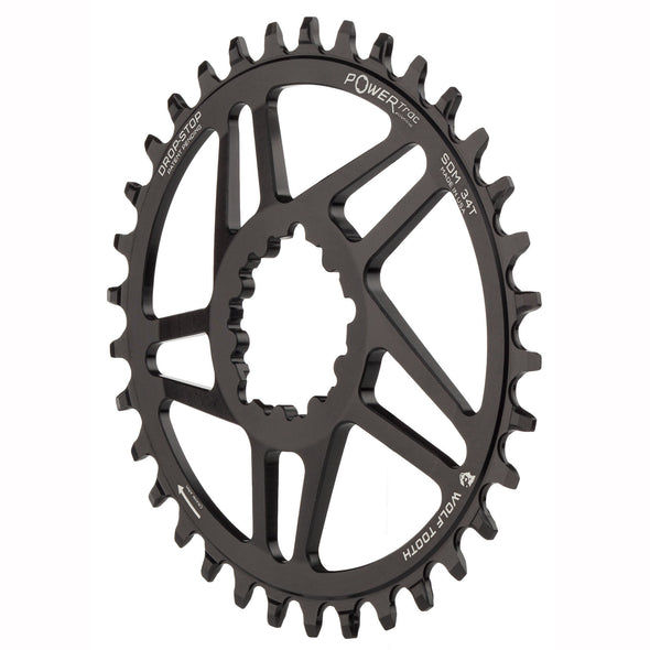Elliptical chainring-SRAM direct mount-angle view