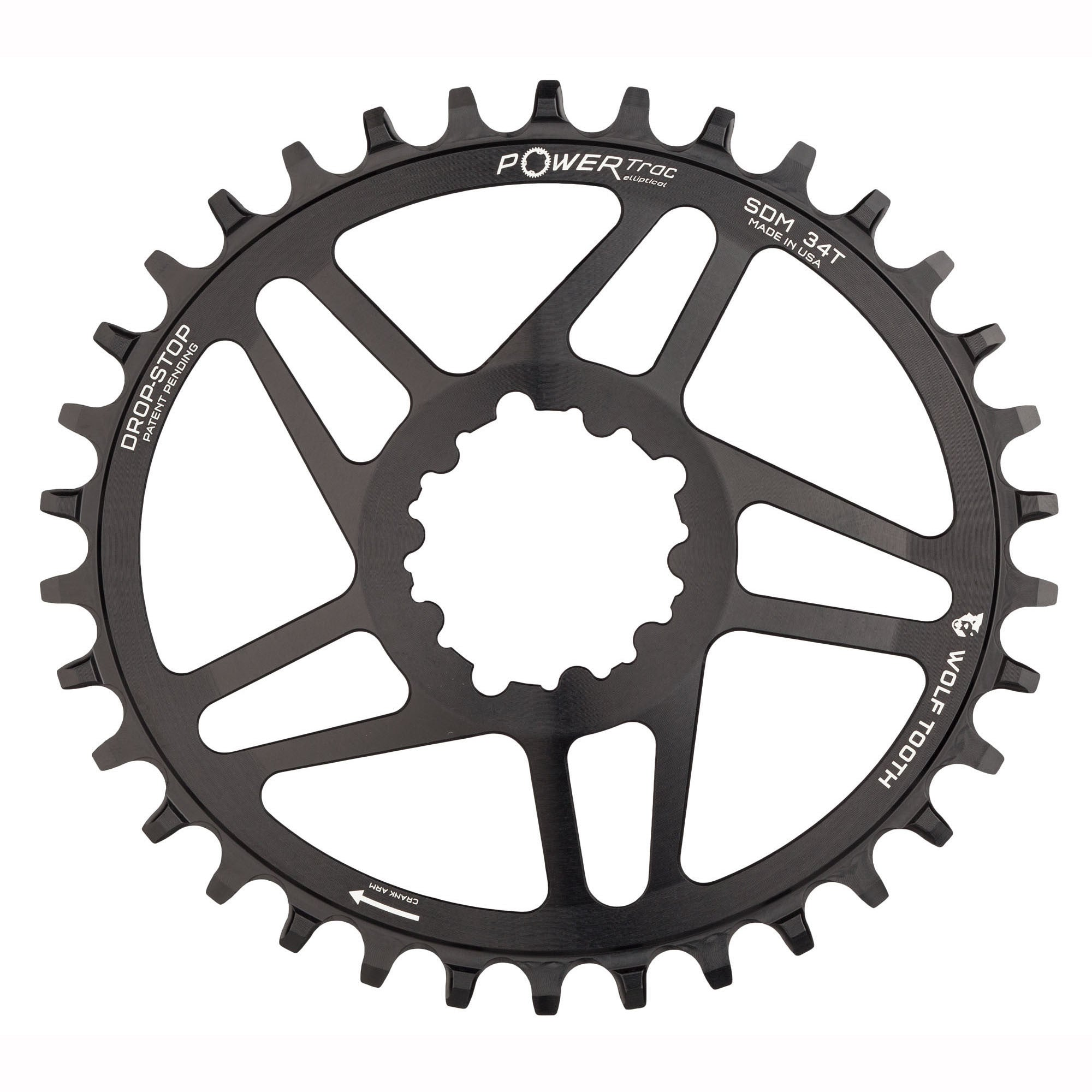 SRAM 3-Bolt Direct Mount Chainrings 38t, Wolf Tooth Direct Mount Chainring