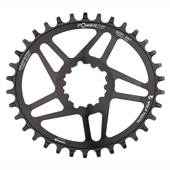 Elliptical chainring-SRAM direct mount-front view