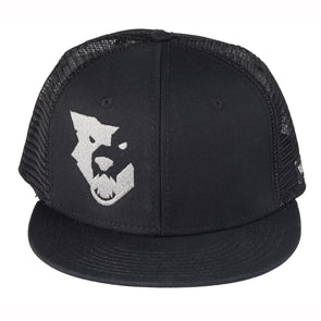 Wolf Tooth Logo Flat Bill Trucker Hat