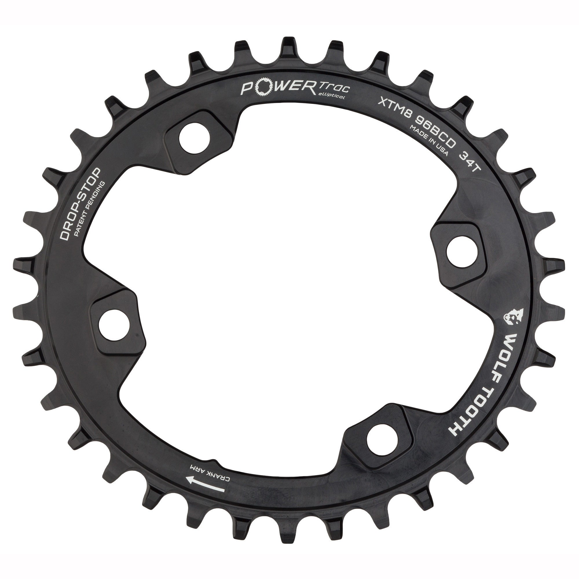 Wolf Tooth Components Drop-Stop Chainring 34T x 96 BCD for XTR M9000 Cranks