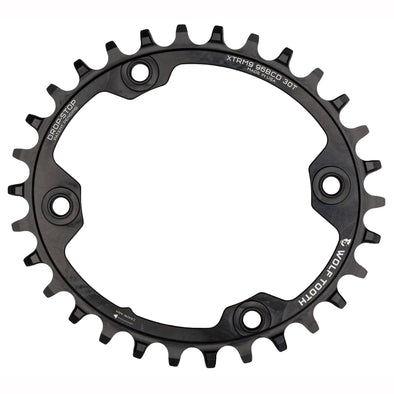 Elliptical 96 mm BCD Chainrings for Shimano XTR M9000 and M9020