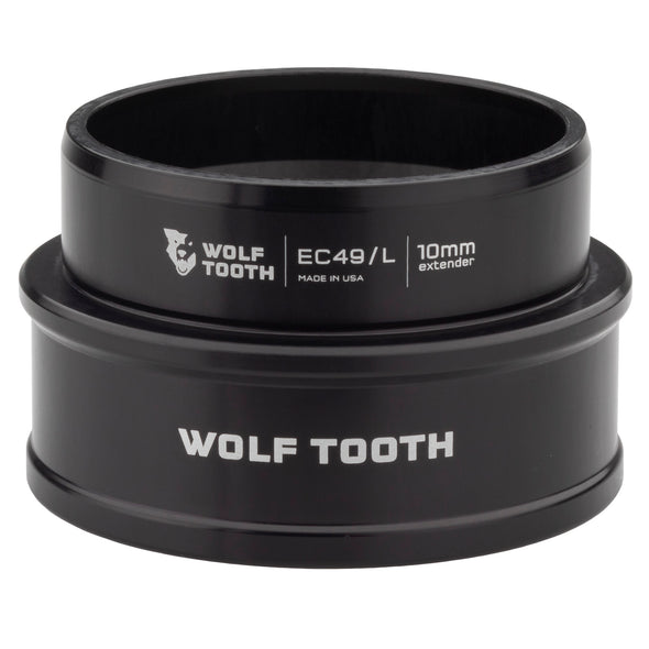 Wolf Tooth Lower Headset Cup Extender - EC - External Cup, Black