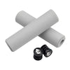 Wolf Tooth Fat Paw handlebar grips in grey with bar end plugs
