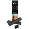Wolf Tooth Karv grips 100% silicone Black in the package and outside with bar end plugs