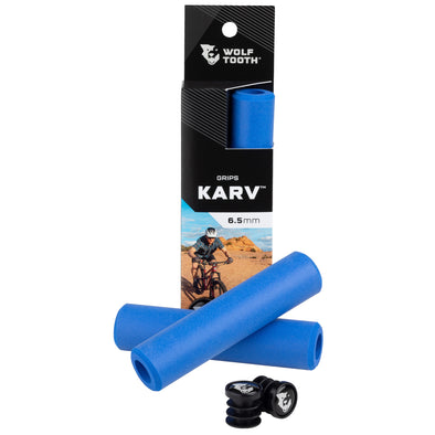 Wolf Tooth Karv grips 100% silicone Blue