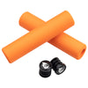 Wolf Tooth Karv grips 100% silicone Orange and bar end plugs
