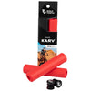 Wolf Tooth Karv grips 100% silicone Red in the package and outside with bar end plugs