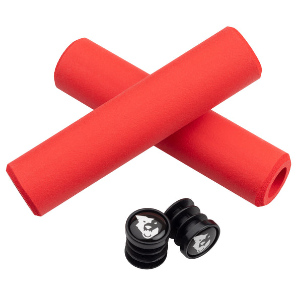 Wolf Tooth Karv grips 100% silicone Red