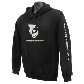 Wolf Tooth Sweatshirt hoodie black with logo front