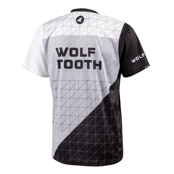 Wolf Tooth Matrix Trail Jersey, breathable, moisture-wicking, jersey, Matrix design, back view