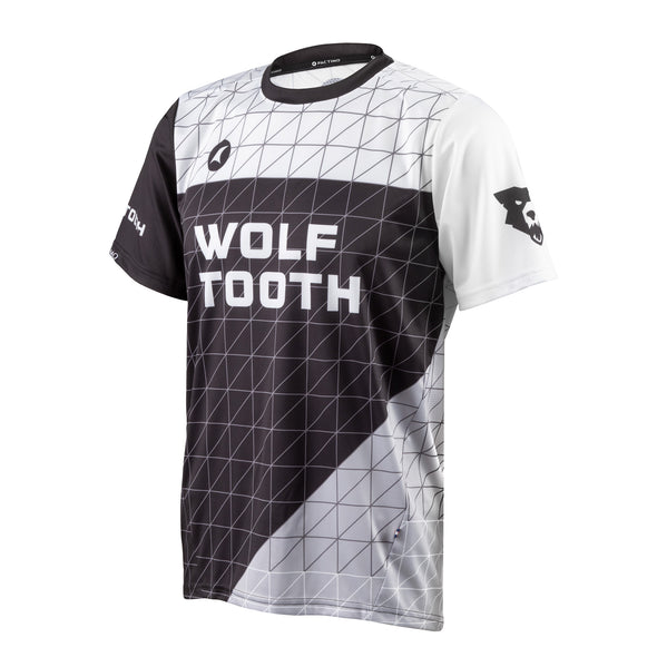 Wolf Tooth Matrix Trail Jersey, breathable, moisture-wicking, jersey, Matrix design, side view