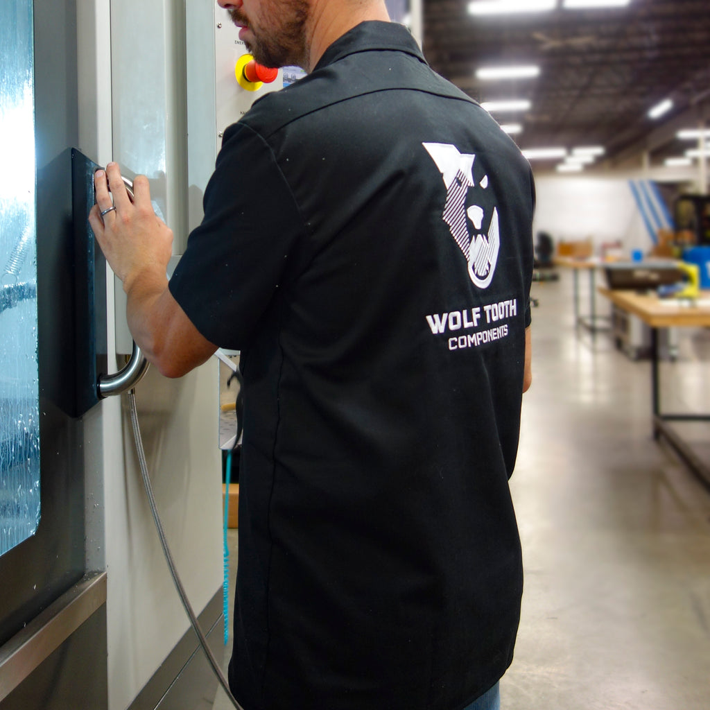 Wolf Tooth Mechanics shirt black with logo back