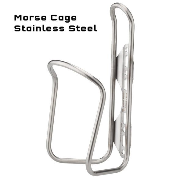 Wolf Tooth Morse Cage-stainless steel water bottle cage-side view