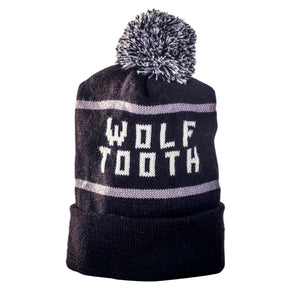 Wolf Tooth Pom Stocking Hat
