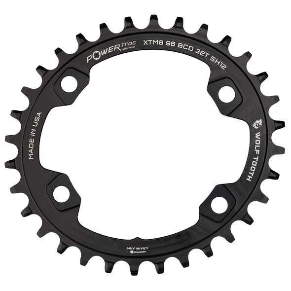 Elliptical 96 mm BCD Chainrings for Shimano XT M8000 and SLX M7000