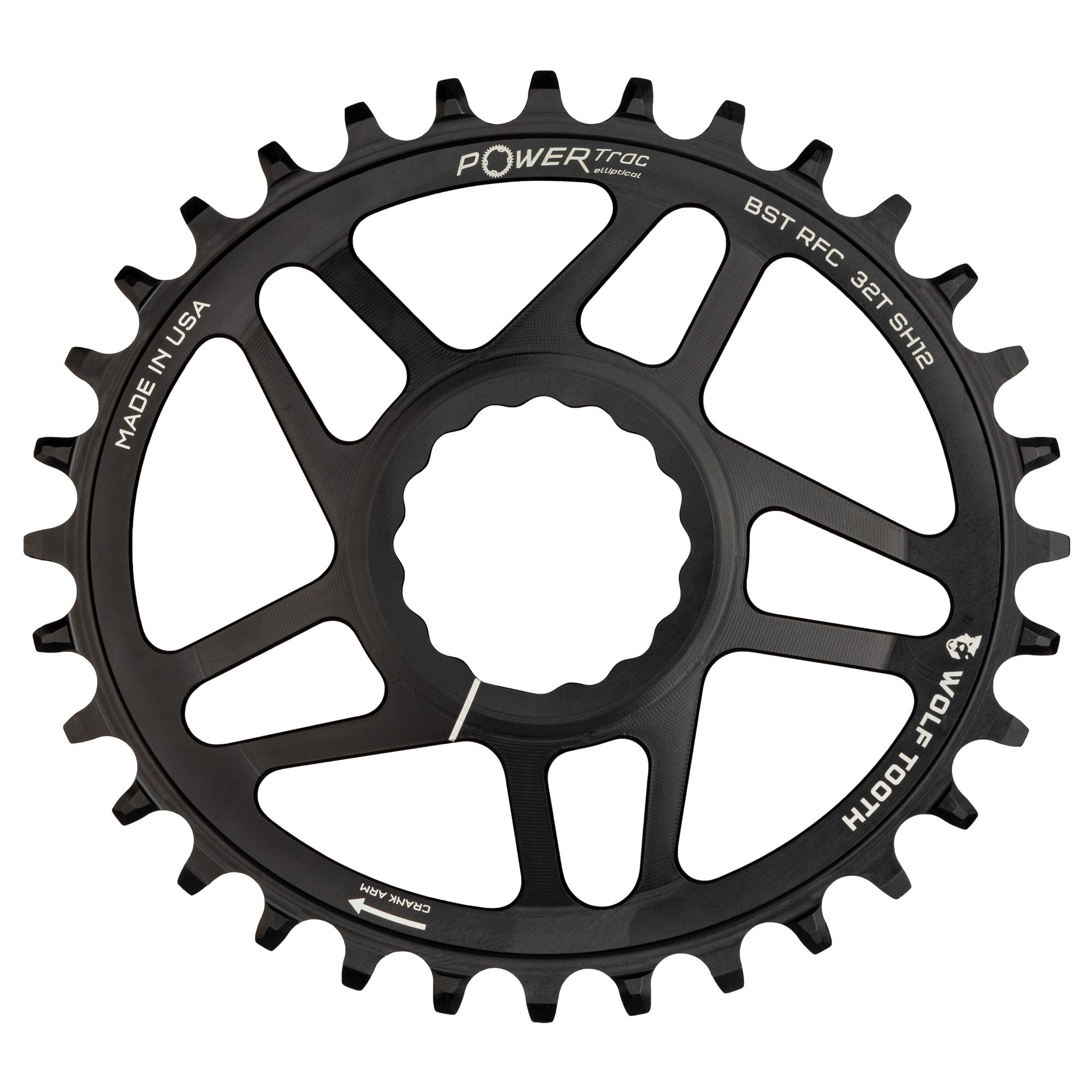 Wolf Tooth Direct-Mount Drop-Stop Chainring for RaceFace Cinch 32t