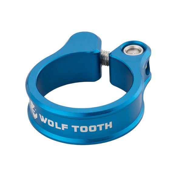 Wolf Tooth Seatpost clamp, seat post collar, blue