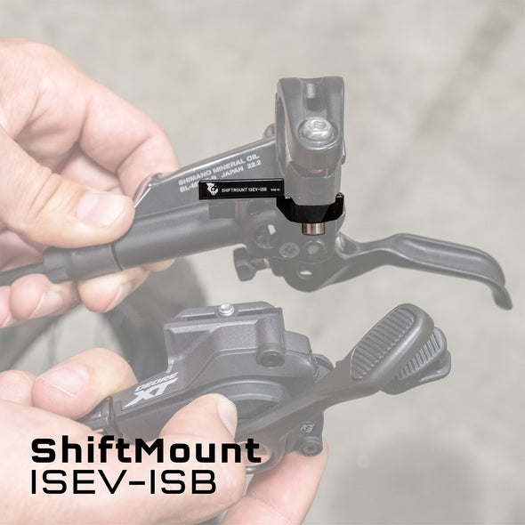 Wolf Tooth ShiftMount ISEV-ISB mounts a Shimano I-SPEC EV shifter to a Shimano I-SPEC B brake