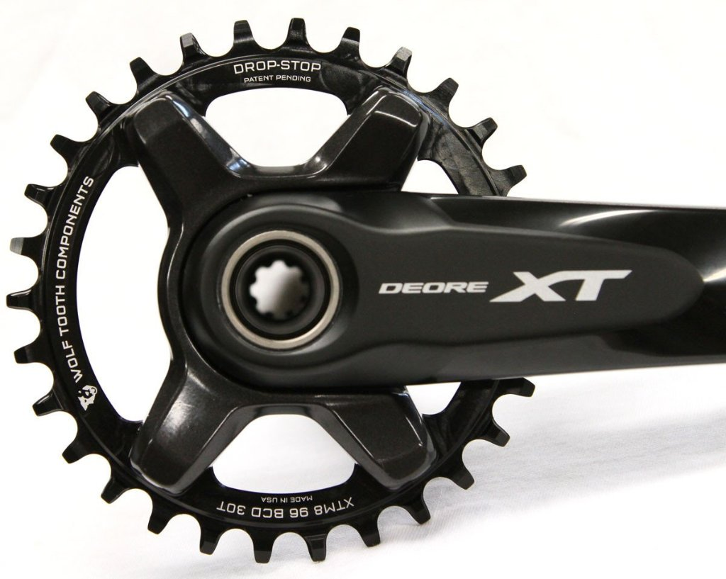 For Shimano XT M8000 Wolf Tooth Elliptical Chainring 34T x 96 Asymmetrical BCD