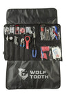 Wolf Tooth Travel Tool Wrap with tools unrolled