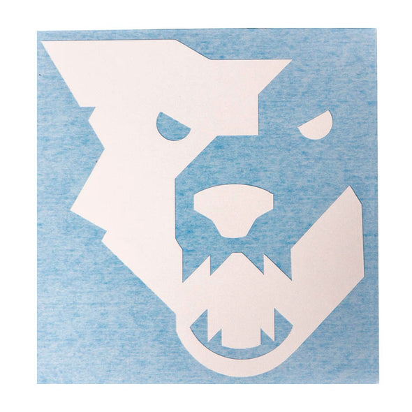 Wolf Tooth white wolf head decal
