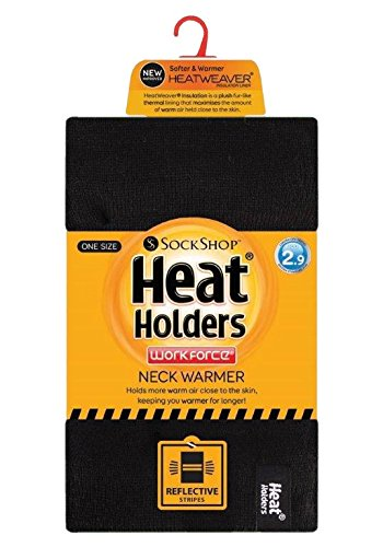 Holders - Mens Hi Vis Winter Warm Insulated Thermal Neck Warmer Reversible