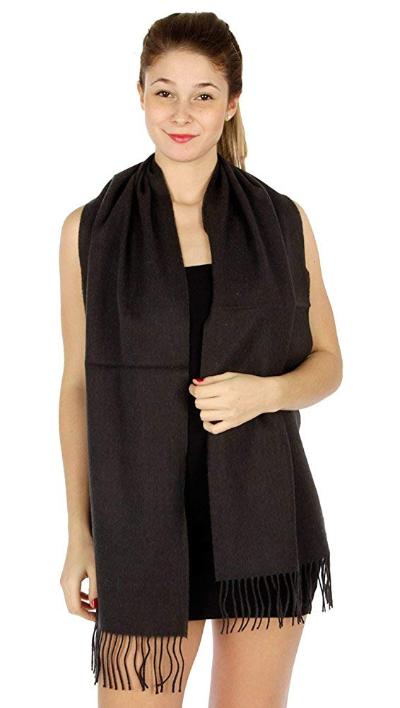 Unisex Super Soft Cashmere Feel Solid Color Scarf