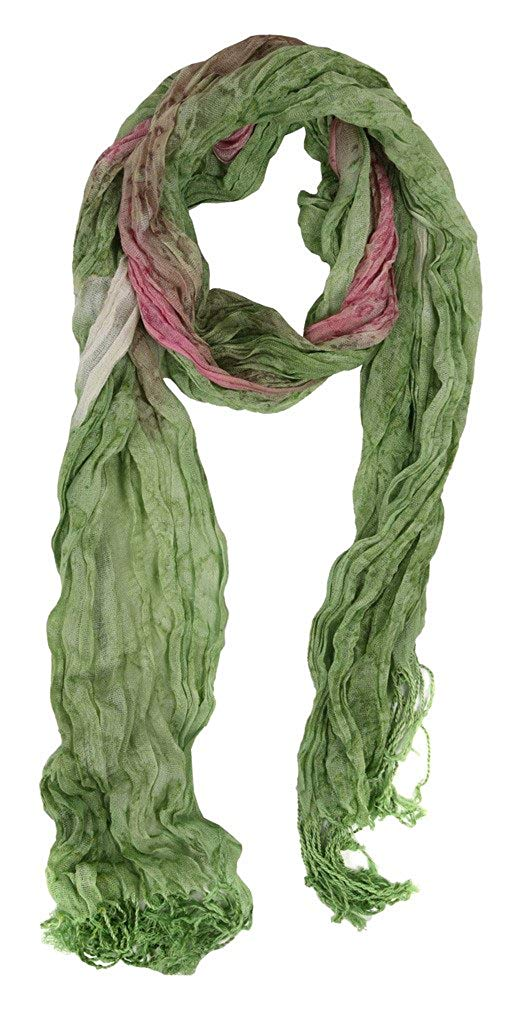 Lakeside-Women's Watercolor Crinkle Scarf
