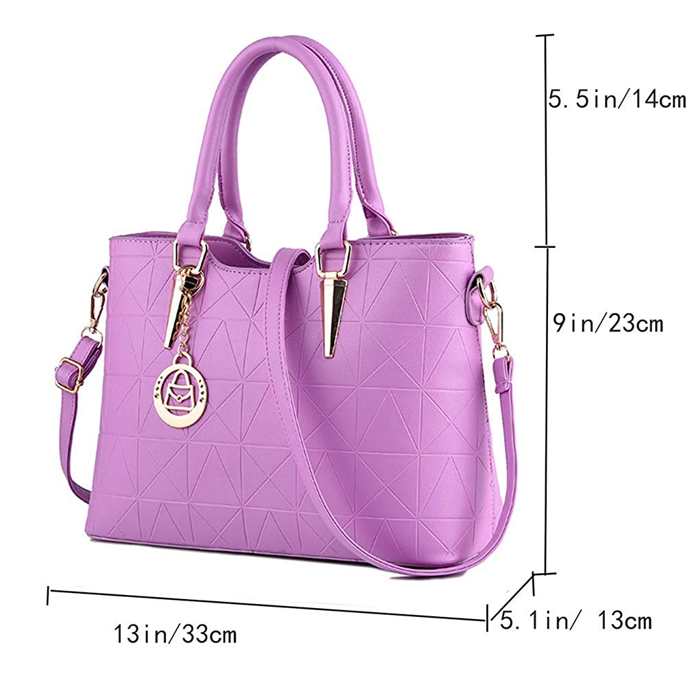 Women Claissic Top Handle Handbag Crossbody Casual Purse Satchel Tote