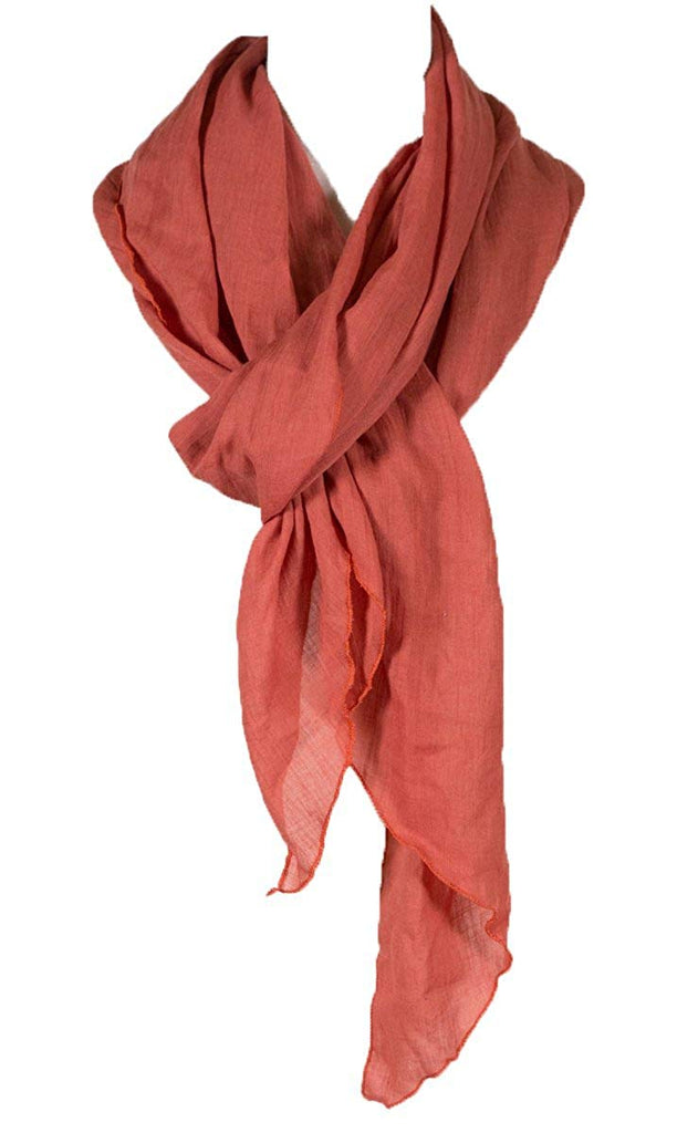 Solid Color wrinkle Linen Scarf, fashion scarf, multi color, beach scarf