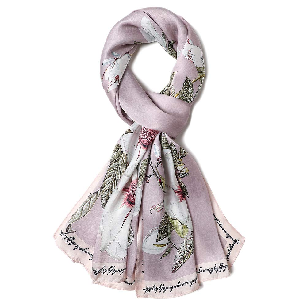 Silk Scarf Fashion Sunscreen Shawls Wraps for Headscarf&Neck