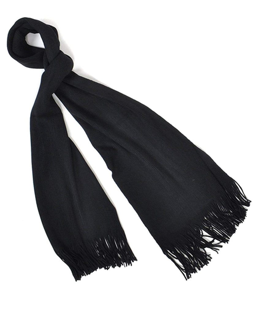 Color Acrylic Unisex Scarf with Tassels