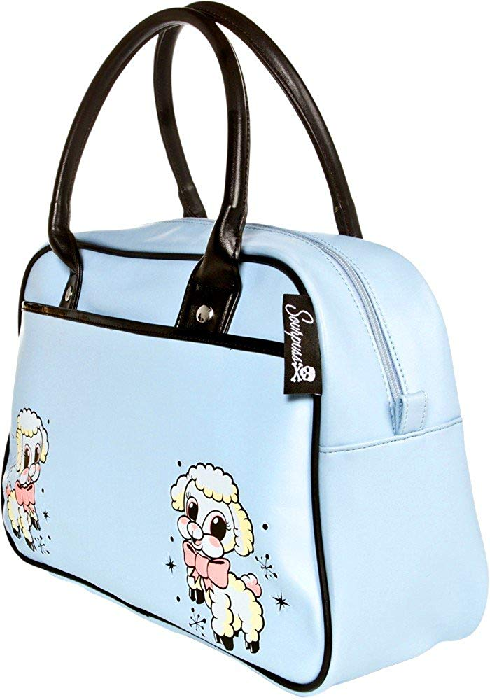Blue Lil Lamb Bowler Purse from Sourpuss Clothing